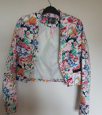 lipsy summer flower patterned blazer size 8