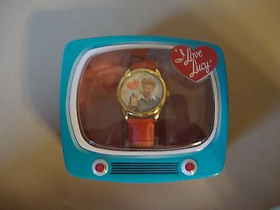 Brand New Collectible I Love Lucy Watch In Tv Shaped Tin