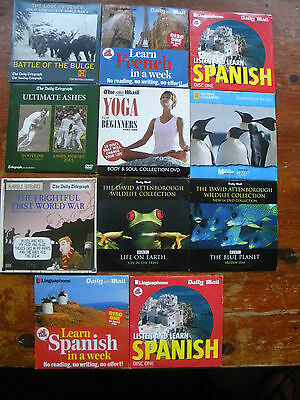 cd bundle 10 items of mixed music used and unused