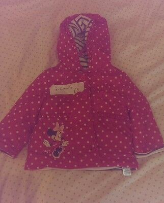baby girls red disney coat 3-6 months minnie mouse
