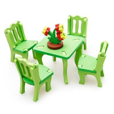 Kid Children Educational Toy Wooden Blocks 3D Puzzle Home Table Chair