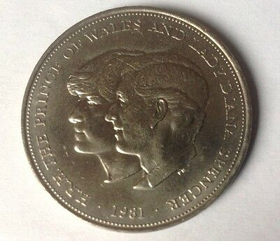 Commemerative Coin 1981 The Wedding Of Prince  Charles To Lady Diana Spencer