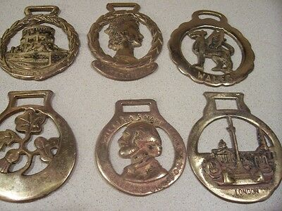 Lot/6 Horse Brass Tack, Saddle Medallions