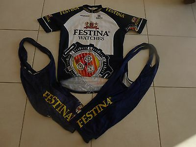 Ancien Maillot + 2 cuissards vintage FESTINA WATCHES taille XXL Tour de France