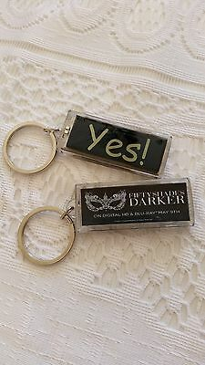 "Fifty Shades of Grey DARKER KEYCHAIN ""YES"" Blinking Authentic"