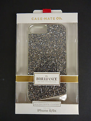 CASE-MATE Brilliance Crystal and Leather Case for iPhone 6 6s Gold