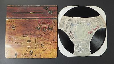 RARE Orig Vtg 1972 Alice Cooper Band Signed SCHOOL'S OUT w/Panties WB BS-2623