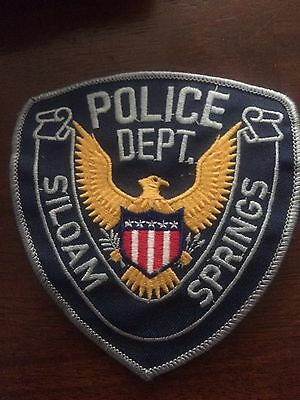 Siloam Springs POLICE-  AR Police Patch