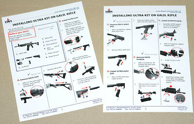 1 Instruction for installing Ultra Kit on Galil Rifle, as on picture