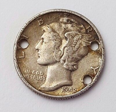 Dated : 1942 - USA - Silver Coin - United States - Mercury One Dime