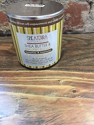 SheaTerra Organic Shea Butter&Malawi Sugar 2-n-1 Body Scrub 8oz. Bananas&Baobabs