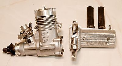 OS MAX SF 25 .25 RC Airplane Engine with Tatone Pitts Muffler - New