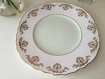 Royal Vale Green and Gold Sandwich Plate