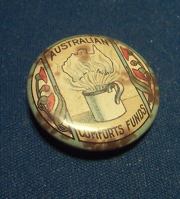 Vintage Pinback Pin - Australian Conforts Funds - WWI - World War I - Free Ship!