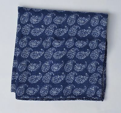 NEU Einstecktuch Pocket Square Wolle Seide Wool Silk Paisleymuster Made Italy