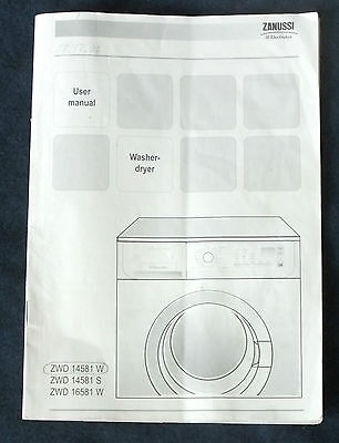 Zanussi Jetsystem ZWD14581 All-in-One Washing Machine INSTRUCTIONS