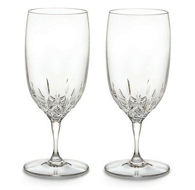 Pair of Waterford Crystal Lismore Essence Iced Tea Water Glasses *New in Box*