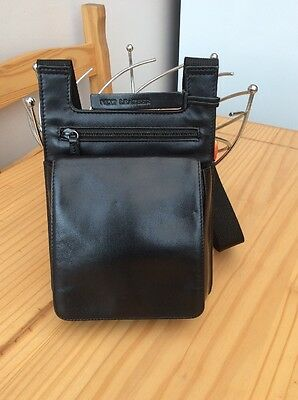 Leather NEXT handbag/backpack. Excellent Condition. Black.