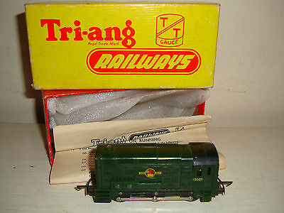 Tri-ang TT- T.95 0-6-0 Diesel Shunter BR Green (13007) excellent/boxd c1958