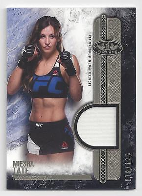 2017 Topps Ufc Knockout Tier 1 Fighter Worn Memorabilia Miesha Tate #79/125