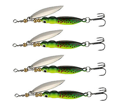2pcs/lot Spinner Baits 15g Fishing Lures Spinnerbait Trout Metal Spoon Willow Ba
