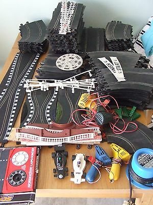 Vintage Scalextric Classic Track & Cars Makes HUGE track plus lots of extras!