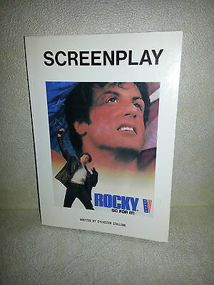 VARY RARE Rocky V Screenplay Script English & Japanese Bound Book Autographed