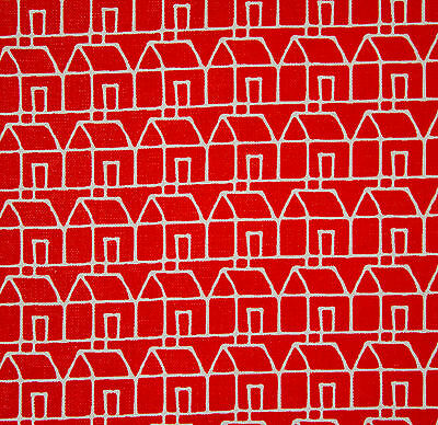 vintage 1960s Habitat Casa Creation Camaieu houses print cotton interiors fabric