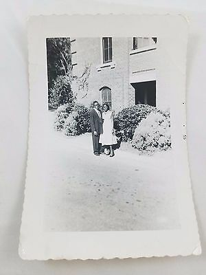 1955 Snapshot Photograph African-American Couple Black & White S01