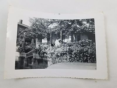 1955 Snapshot Photograph Large African-American Lady in Apron Black & White S01