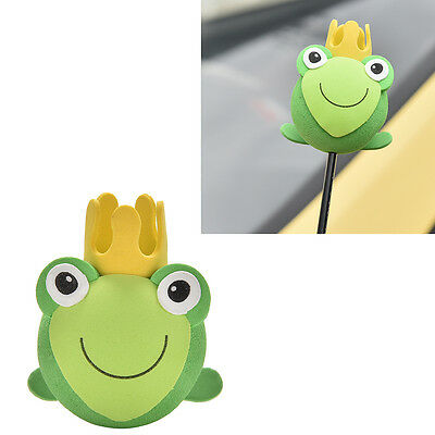 1Pcs Frog Prince Charmings Green Toad Antenna Balls Car  Antenna Toppers 0A