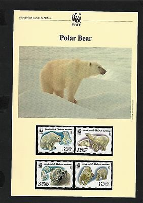 Russia WWF 1987 Polar Bear MNH set of 4stamps