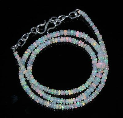 """31.53 Crts 1 Strands 3-5 mm 16"""" Beads necklace Ethiopian Welo fire Opal 00452"""
