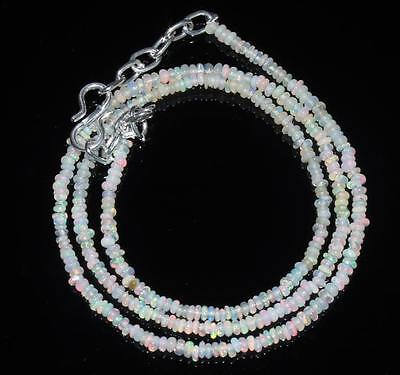 """23.38 Crts 1 Strands 3 mm 16"""" Beads necklace Ethiopian Welo fire Opal 00655"""