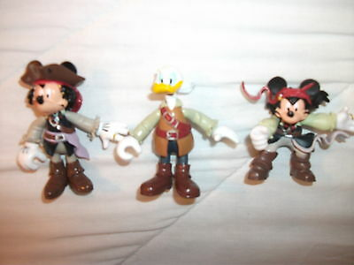 Mickey Mouse Captain Jack Sparrow,Duck  Pirates Of The Caribbean + SHIP  Figure