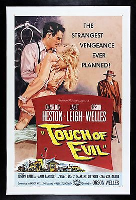 TOUCH OF EVIL ✯ CineMasterpieces 1958 ORIGINAL MOVIE POSTER CLASSIC HOLLYWOOD