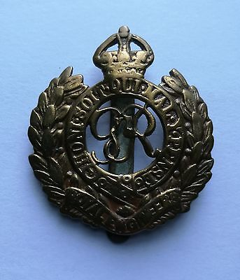 The Royal Engineers 'GvR'  WW1 British Army Military Cap Badge