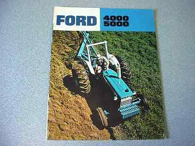 Ford 4000 and 5000 Farm Tractor brochure              lw
