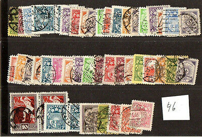 Latvia Lettland Lot Of 46 Stamps 675