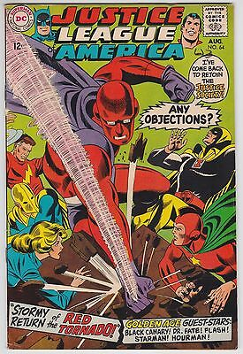 Justice League Of America #64 F 6.0 Justice Society Red Tornado!