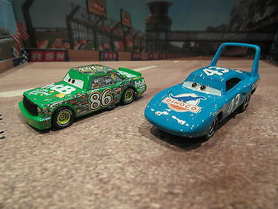 Disney Cars Diecast Chick Hicks  Mint And The King Bundle New Loose Mattel 1:55