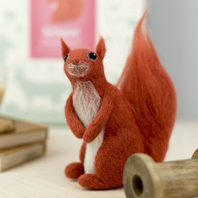 Red squirrel. A complete needle felting kit with full colour instructions