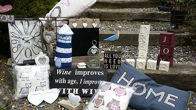 Home Gifts (cushions signs candles)