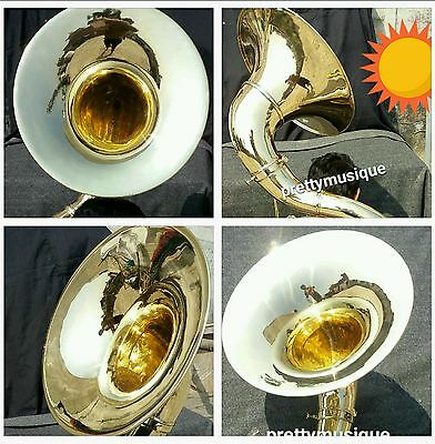 "Sousaphone 22"" Bell Of Pure Brass (Gold Polish) +Case + Mouthpc + Free Shipping"
