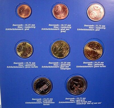 Netherlands 8 Coins Euro Set Introductory 1999/2000/01 Mixed New BUNC KMS