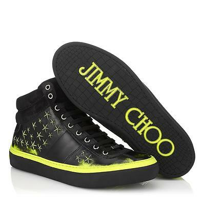 e0505ee7c9ba New Jimmy Choo Belgravia 3d Star Hightop Neon Green Sneaker Shoes Size 43 10