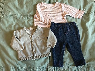 Baby Girls Summer Outfit M&S M&Co H&M 0-3 Months