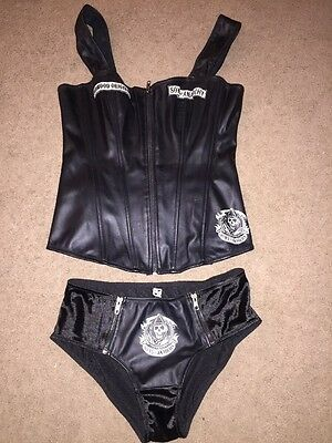 Sons Of Anarchy Women's Top And Bottom Black and Silver L-M