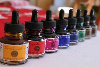 Sennelier Drawing & Calligraphy Inks 30ml. Artists Drawing Ink.(Combined Postage