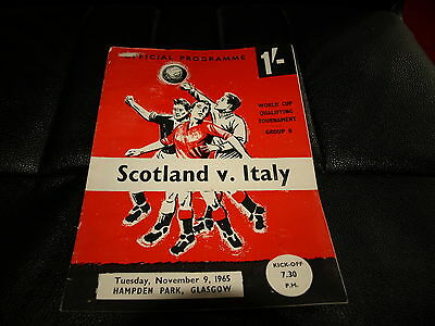 Scotland V Italy World Cup Qualifier 1965